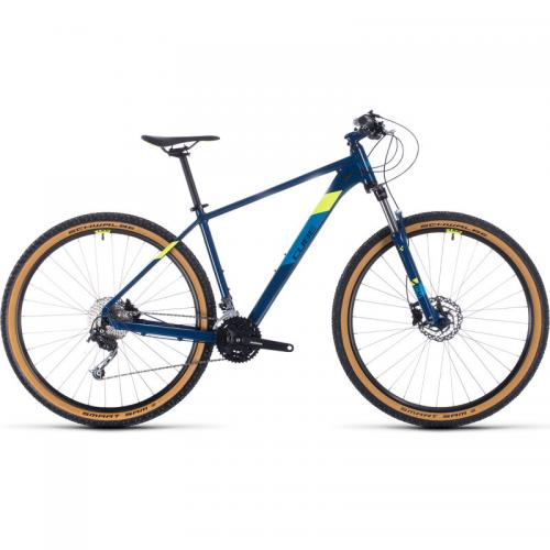 BICICLETA CUBE AIM SL Blueberry Flashyellow 2020 30151019