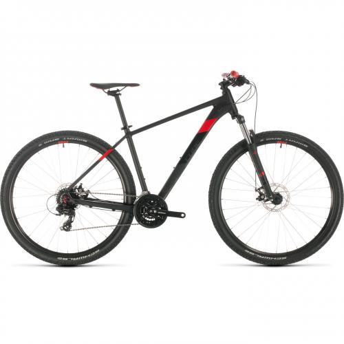 BICICLETA CUBE AIM Black Red 2020