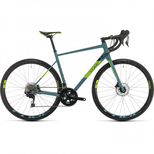 BICICLETA CUBE ATTAIN SL Bluegrey Green 2020 58cm