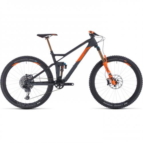 BICICLETA CUBE STEREO 140 HPC TM 27.5 Grey Orange 2020 20