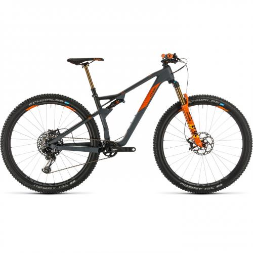 BICICLETA CUBE AMS 100 C:68 TM 29 Grey Orange 2020 20