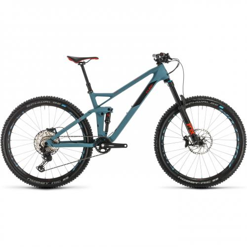 BICICLETA CUBE STEREO 140 HPC RACE 27.5 Bluegrey Red 2020 20