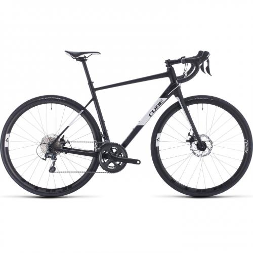 BICICLETA CUBE ATTAIN RACE Black White 2020 58cm