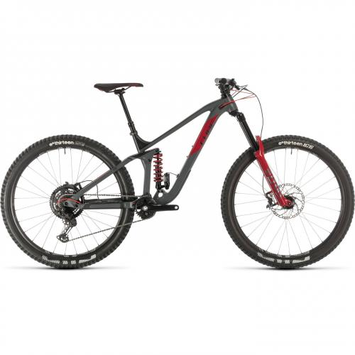 BICICLETA CUBE STEREO 170 TM 29 Grey Red 2020 20