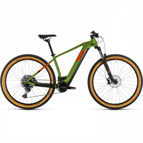 BICICLETA CUBE REACTION HYBRID EX 625 29 Green Orange 2020 19