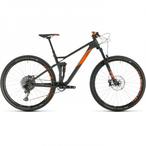 BICICLETA CUBE STEREO 120 HPC TM 29 Grey Orange 2020 20
