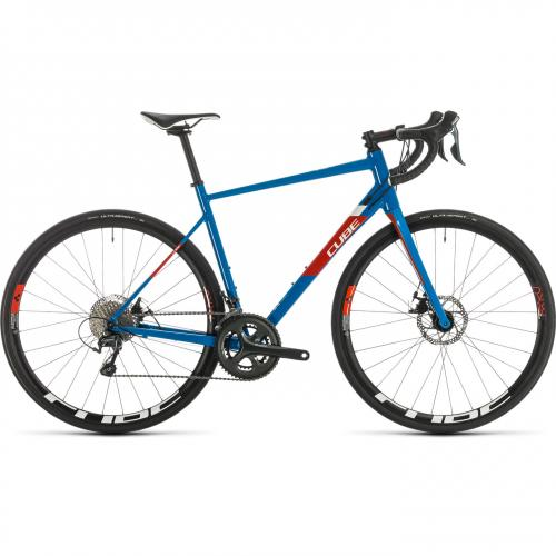 BICICLETA CUBE ATTAIN RACE Blue Red 2020 58cm